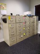 (6) 4-Drawer Vertical File Cabinets