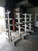 """Double-Sided Cantilever Rack 110"""" x 33-1/2"""" x 79"""", 1' Deep (Matl. Excluded)"""