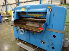 """Lawson 52"""" paper cutter, s/n 428 (Located in South Hadley, MA)"""