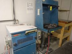 Westco md. LT-05-1818 down draft booth w/ adjustable table height and dust collection system (