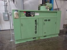 Sullair VS32-125/A vacuum pump, s/n 201106100038, 125HP and 54,108 hrs. (Located in South Hadley,