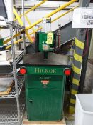 Hickock single head round cornerer, s/n 16484 with upgraded 2 button operation and pneumatic