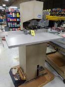 Challenge JF single head paper drill, s/n 015491 w/ round corner cutter attachment (Located in North