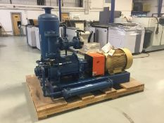 Nash central vacuum pump md. XL 130/7 (2012), test # 12D0893 with Buckeye receiving tank, Baldor