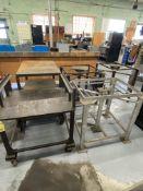 LOT (5) Machine Bases & Cart (RIG PRICE $5.00)
