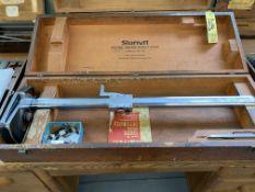 Starrett #254 Master Vernier Height Gage w/ Case (RIG PRICE $5.00)