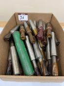 """(30) Assorted Morse Taper End Mills - Up To 3/4"""" Dia."""