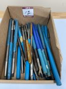 (25) Assorted Carbide Tip+HSS Reamers - Straight Shank