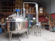 150 Gallon Pro Series Whiskey Still & Rite Engineering 63 S 15 HP Low Pressure Steam Boiler