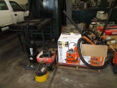 LOT Ridgid 16 Gal. Shop Vac, (2) Stinger Vacuums, Eureka Vacuum