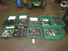 LOT Assorted Cat 3406E, C15, C16 Engine Tooling, 3406E Injector Sleeve Tooling, Analyzer Programmer,