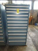 (1) 12-Drawer Lista Tool Cabinet
