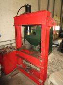 """(1) Approx. 50 Ton Hydraulic """"H"""" Frame Press w/ Tooling"""