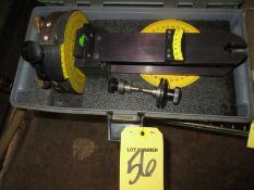 (1) Emerging Technologies Laseraim Level Kit w/ Plumb Tripod Mount & Tripod in Case