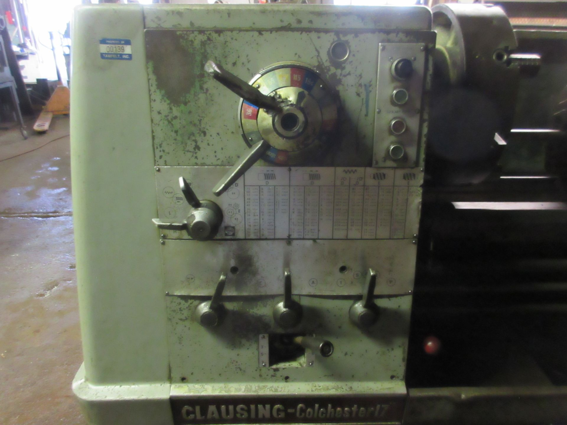 """Clausing Colchester 17"""" X 84"""" W/3"""" Spindle Hole Toolroom Lathe (1) 14"""" 3 & 16"""" 4 Jaw Chuck & 1 - Image 2 of 5"""