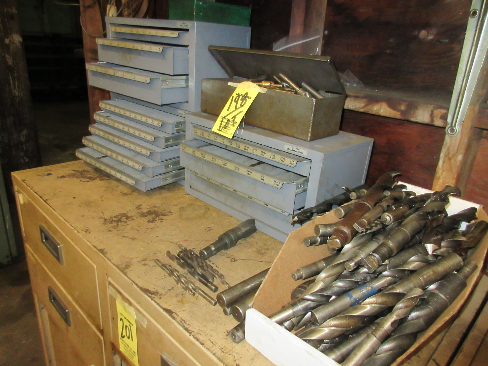 LOT (3) Drill Index Cabinets, Drills, Mills, Reamers, in Cabinets & on Shelf - Image 2 of 5