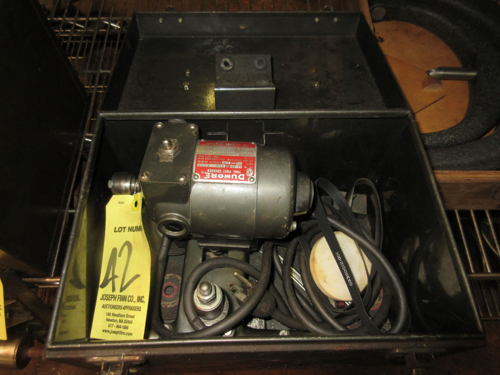 (1) Dumore Tool Post Grinder Cat #11-001, 1/5 HP, in Case