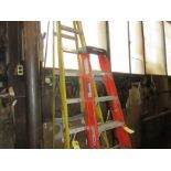 (1) Yellow 8' Fiberglass Step Ladder
