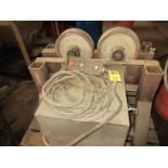 (1) (1) Set Heavy Duty Tank Rollers Includes (1) Powdered Unit With (3) Idler Roller Dollies