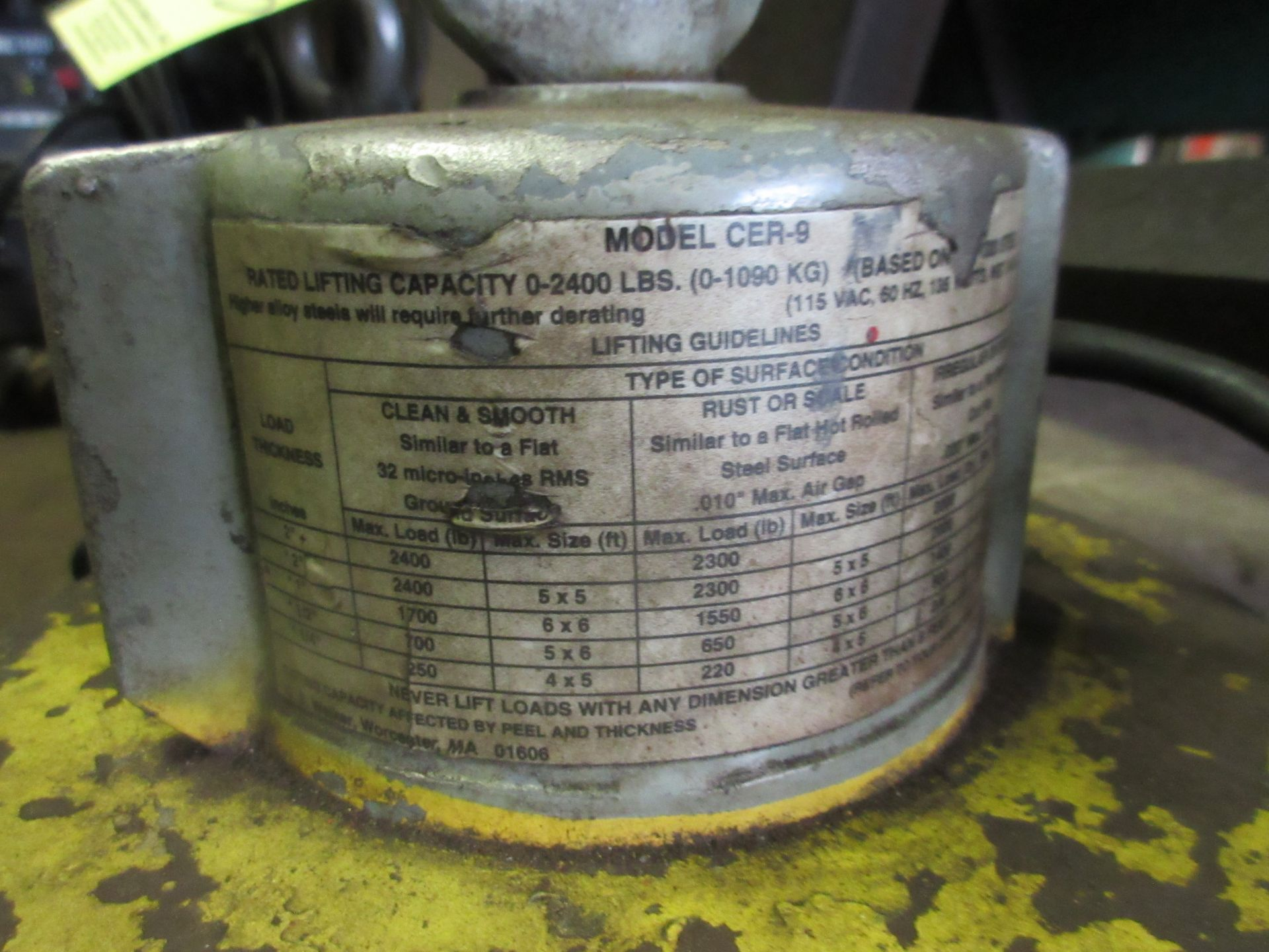 (1) Model CER-9 Lifting Magnet, 24,000 Lbs. Cap - Image 2 of 2