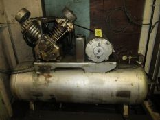 (1) National Horizontal Tank Mounted Air Compressor, (2) Stage, 10 HP, 230V, 3 PH