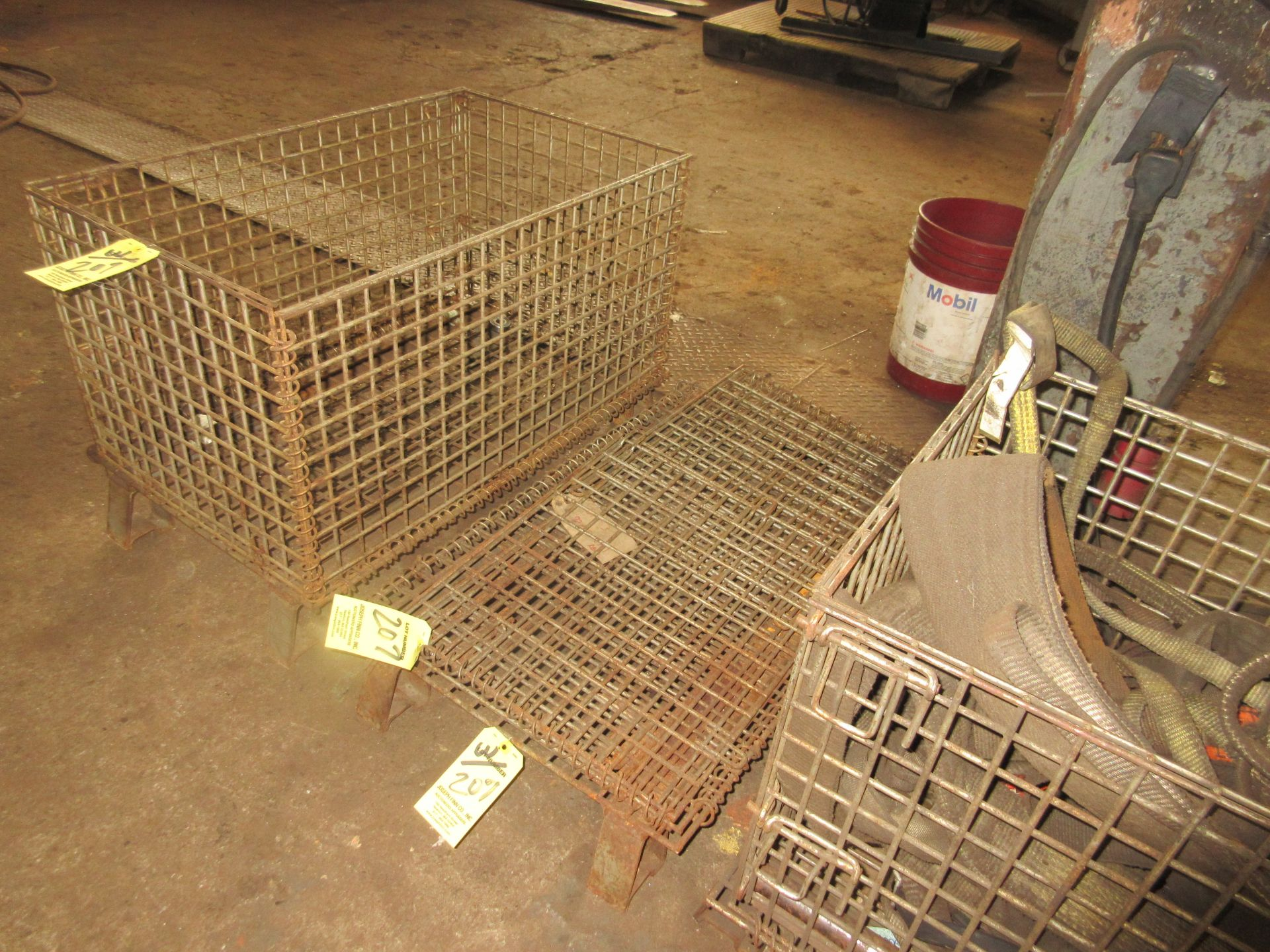 """LOT (3) Collapsible 20""""x32"""" Steel Crates"""