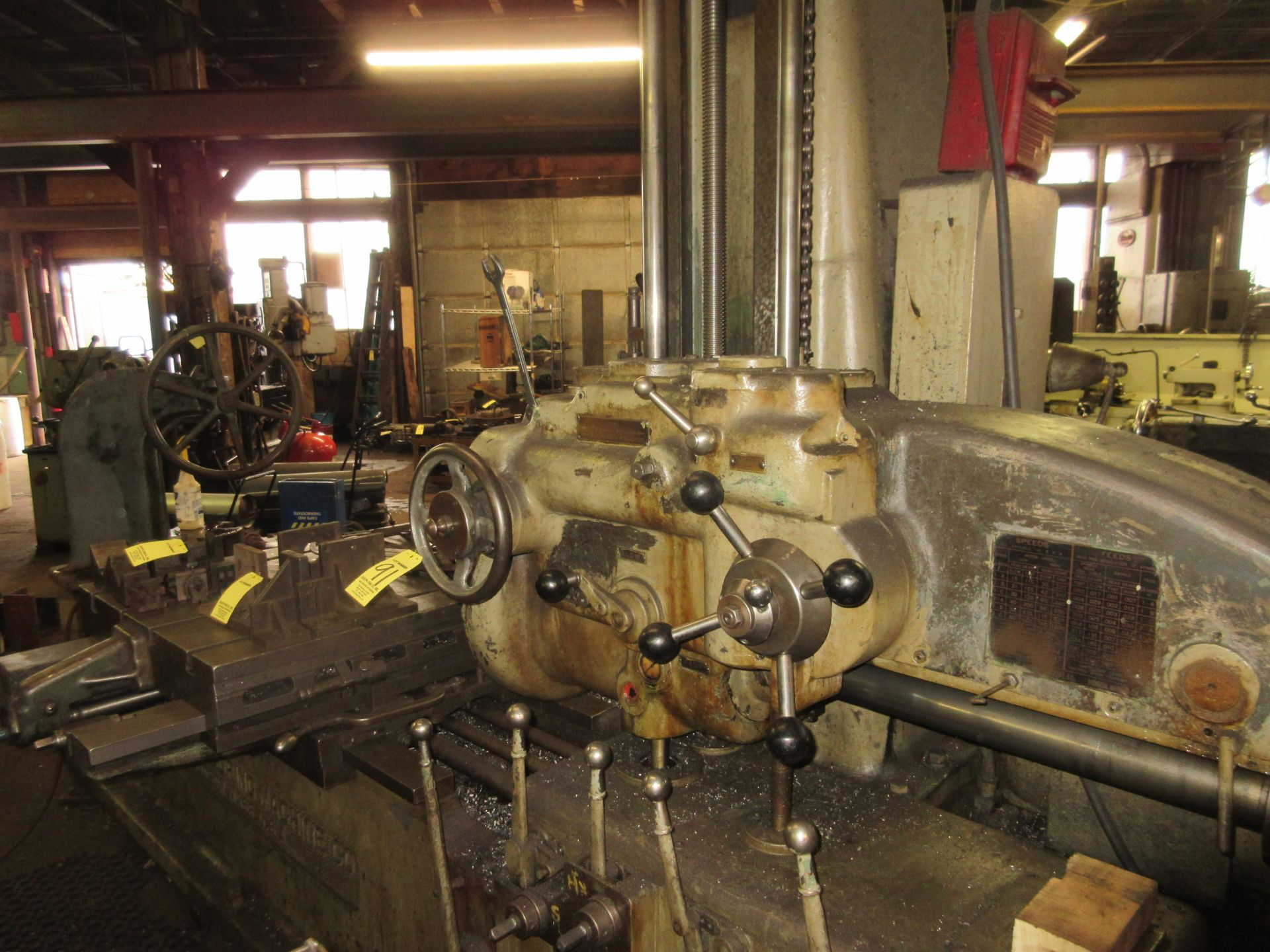 """(1) Universal Boring Machine Model 25 3"""" Spindle, 32"""" x 60"""" Table - Image 2 of 4"""