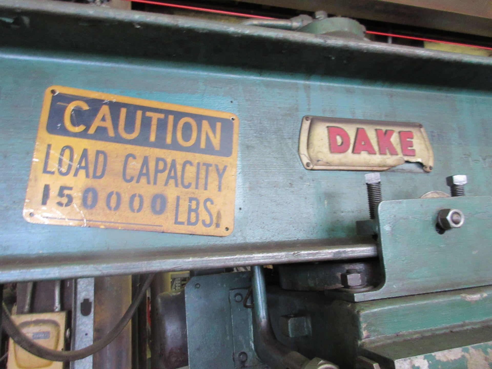 (1) Dake 5-075 H-Frame Press s/n 158113, 75 Ton - Image 3 of 3