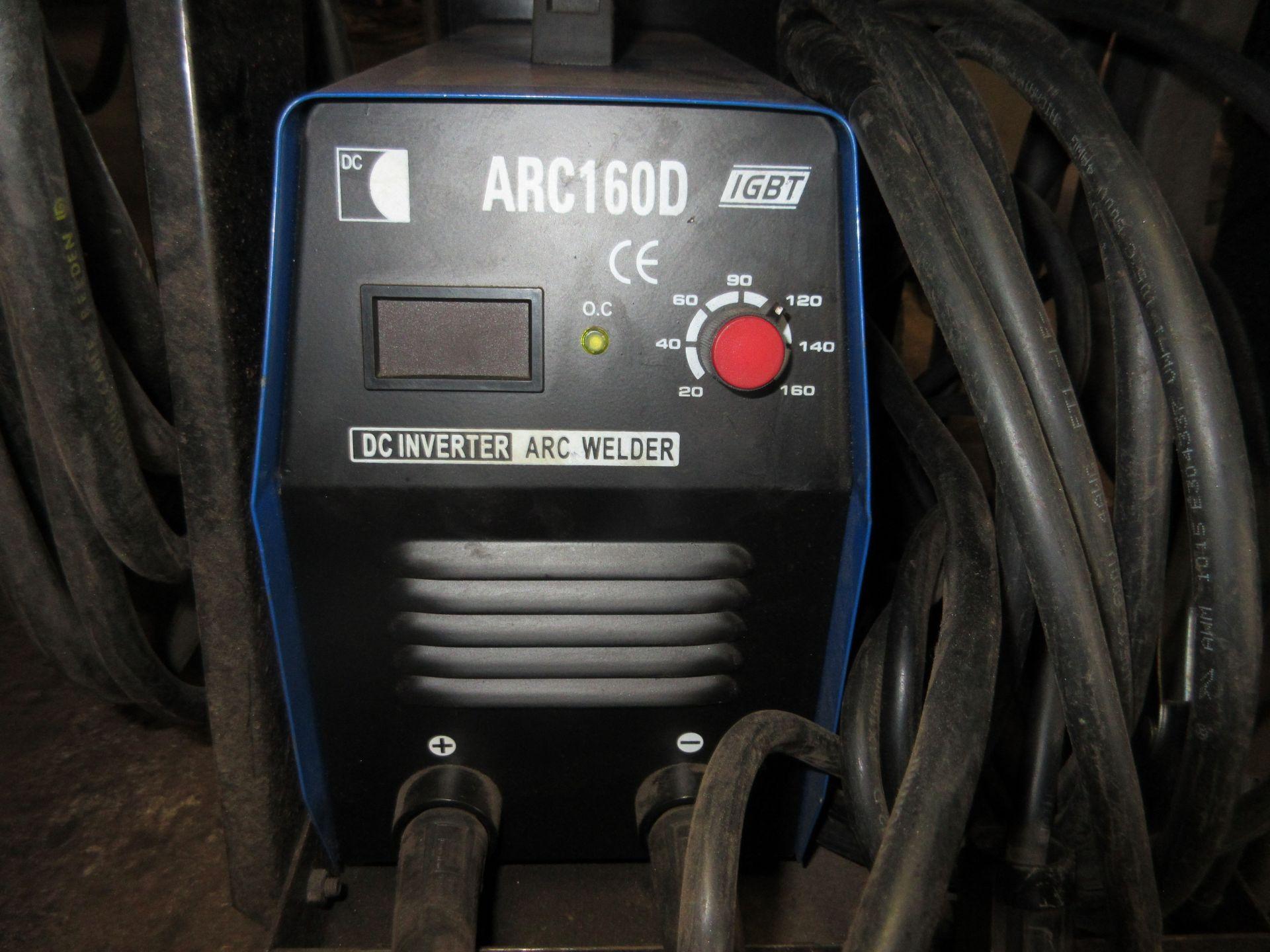 (1) IGBT Arc 160D Invertor Arc Welder w/ Chicago Electric Invertor Tig/Stick Welder, Foot Control - Image 2 of 5