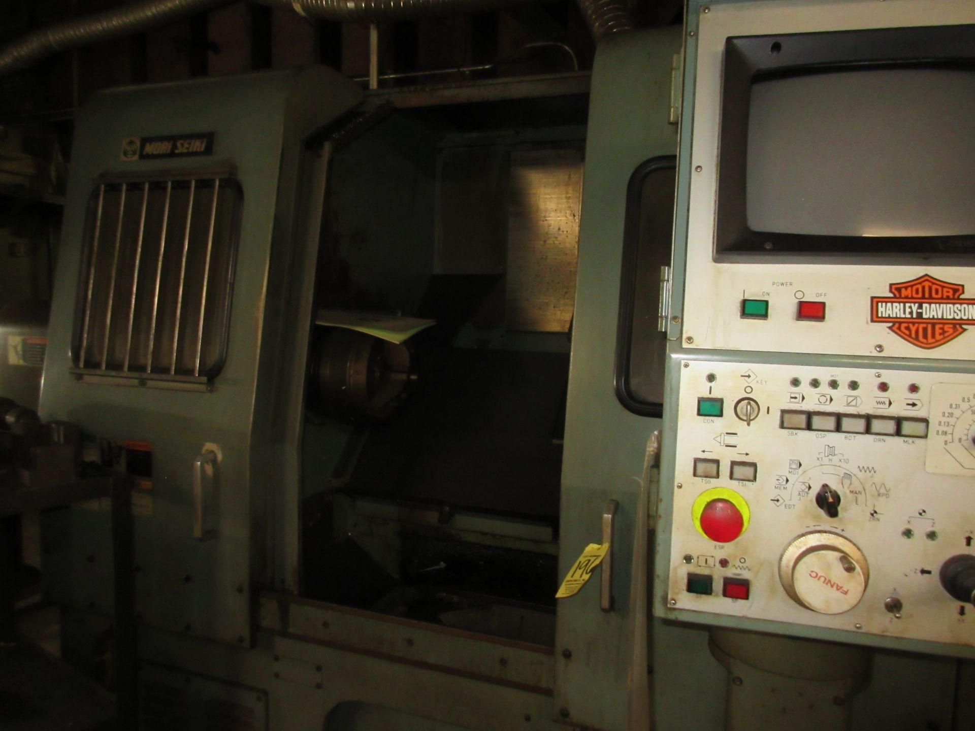 (1) Mori Seiki SL-3H S/N 3360 W/ Chip Conveyor - Image 3 of 8