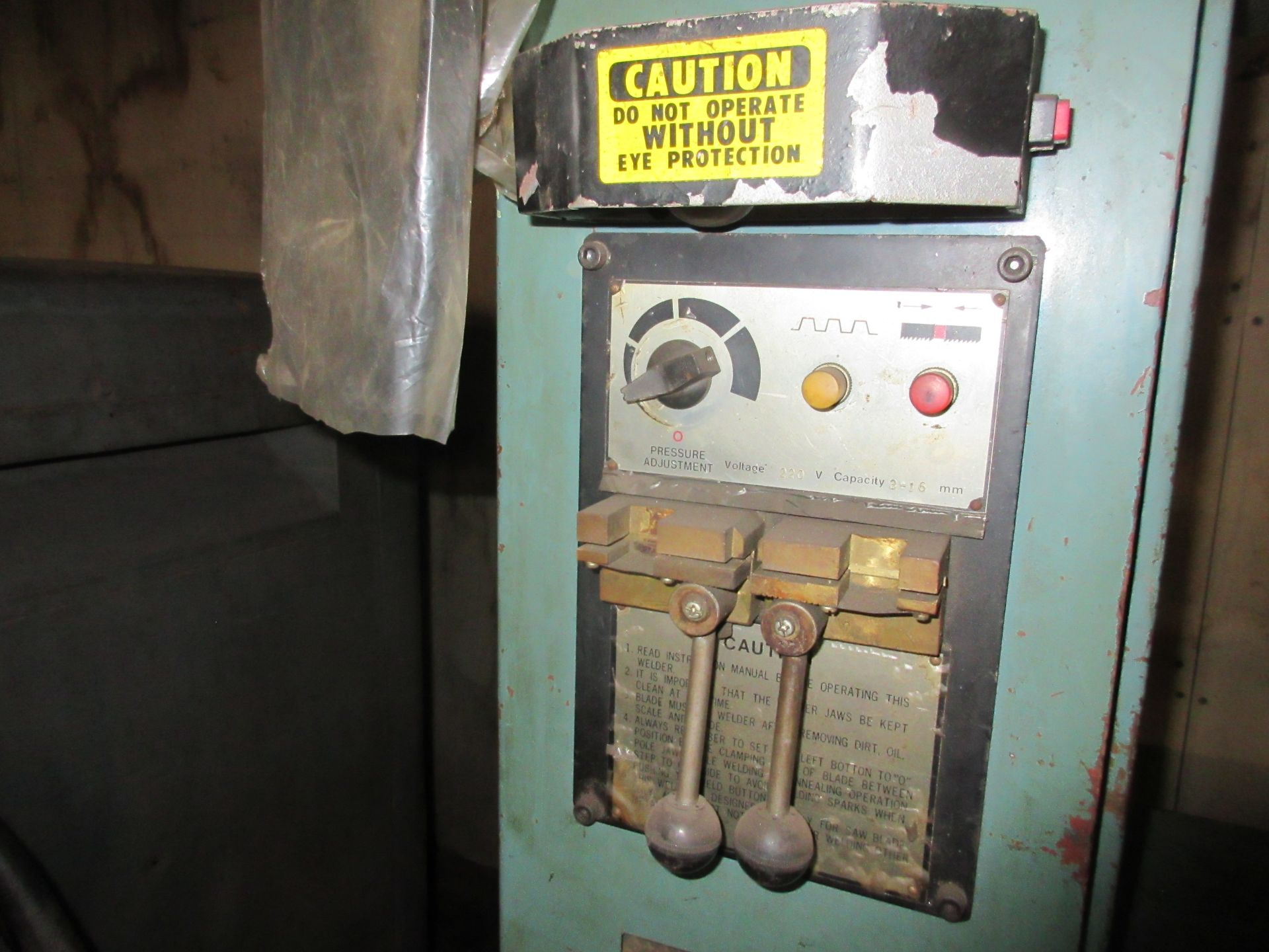 (1) Enco 135-1551 Vert. Band Saw, S/N B45838, (1) H.P., Blade Weld Attachment - Image 3 of 3