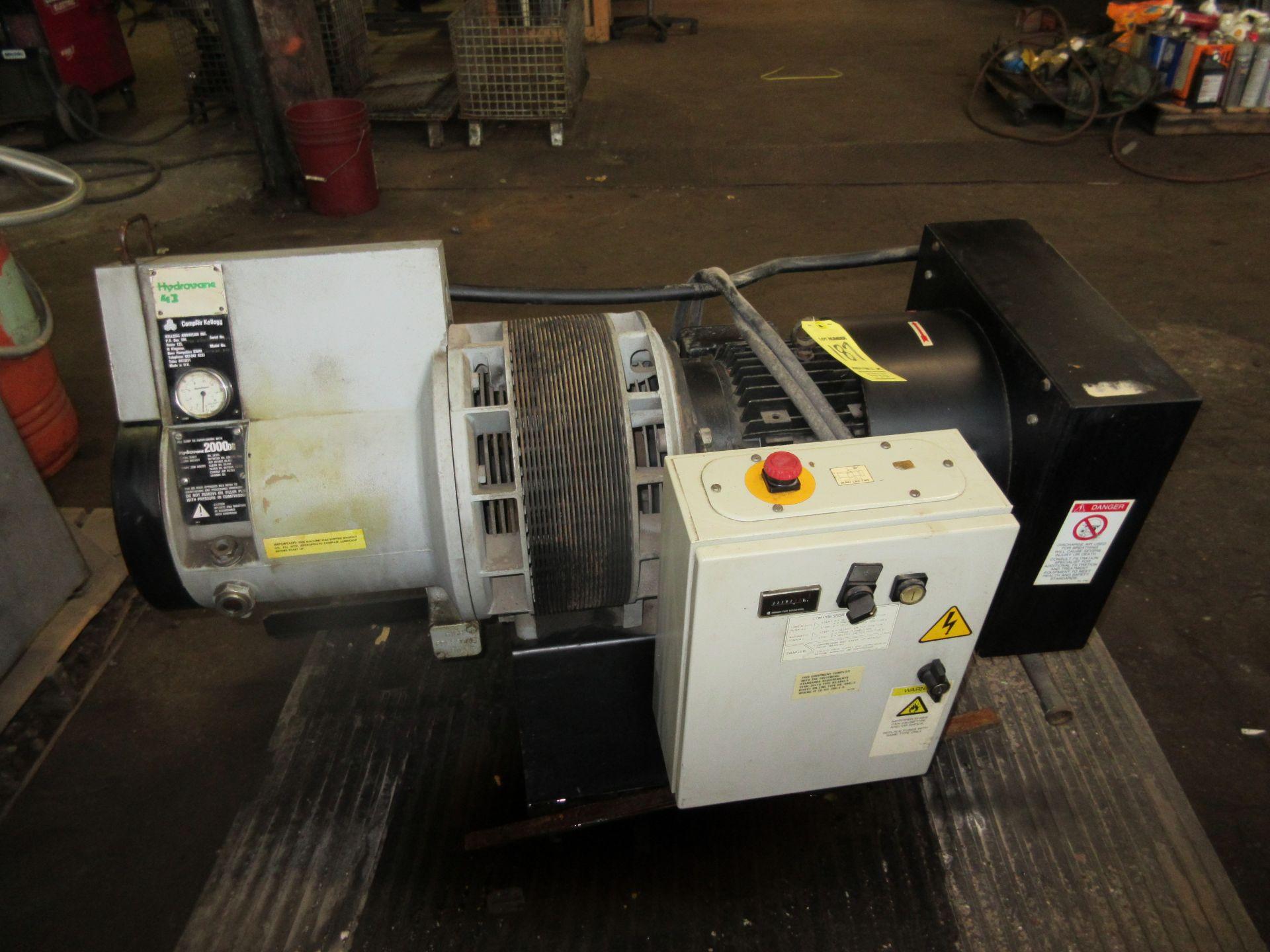 (1) Hydrovane 43 Rotary Screw Compressor M/N 043K10.108 S/N 8710.12HV643007/1/1