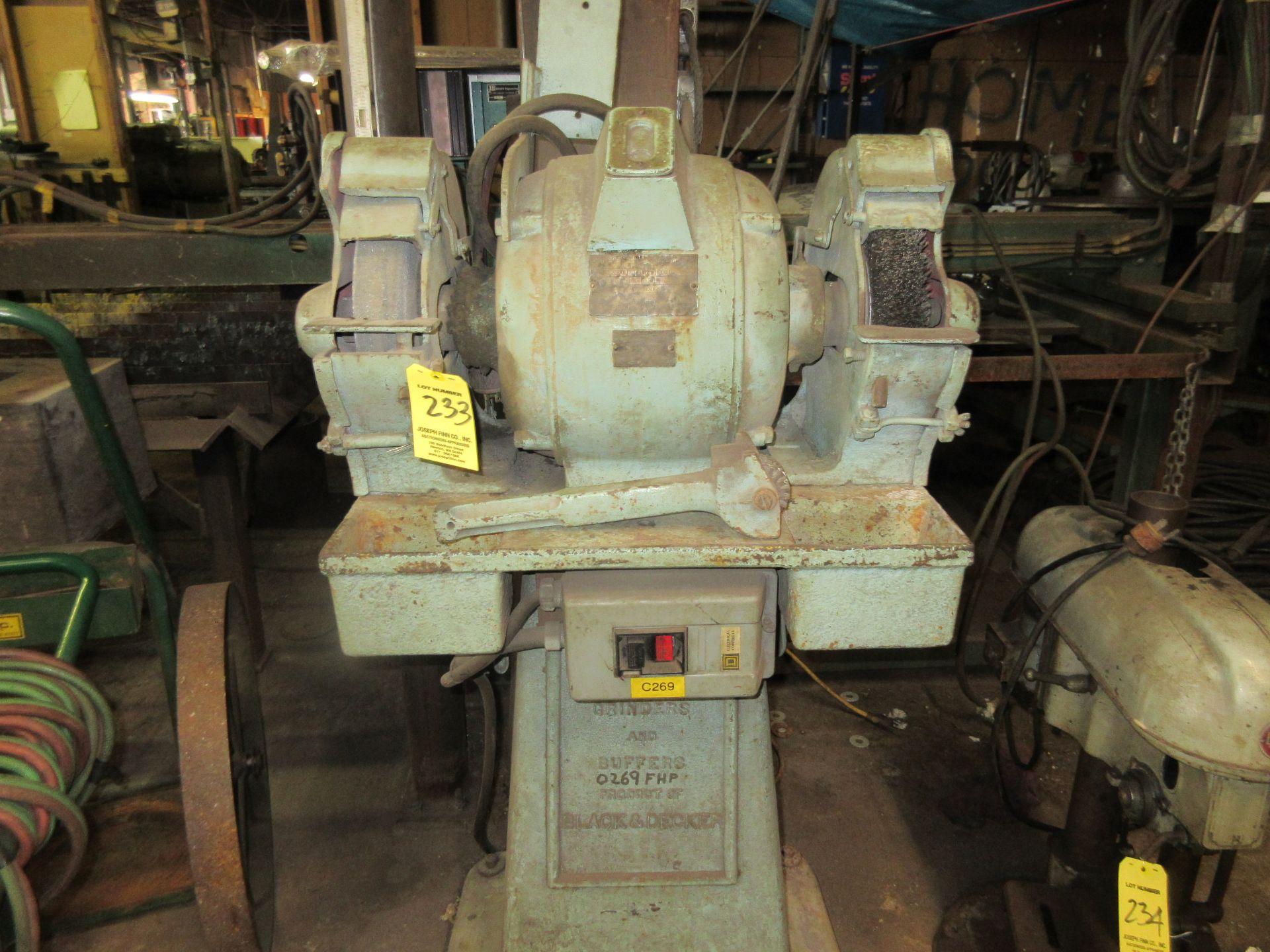 (1) B&D Marsch H.D. D.E. Pedastal Grinder, 440V, 1800 RPM