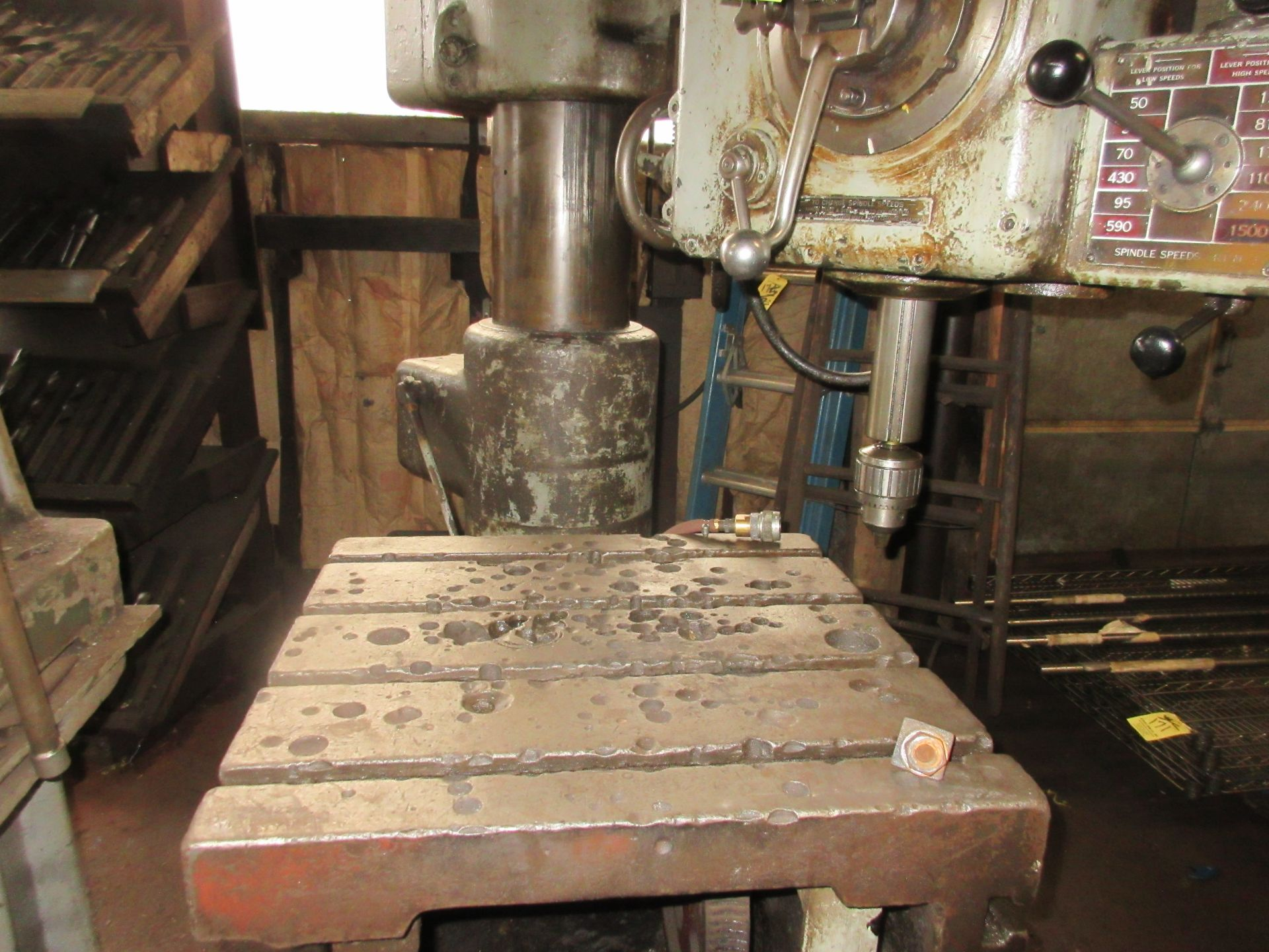 (1) American Hole Wizard Radial Arm Drill, Includes (2) Transformers - Image 3 of 6