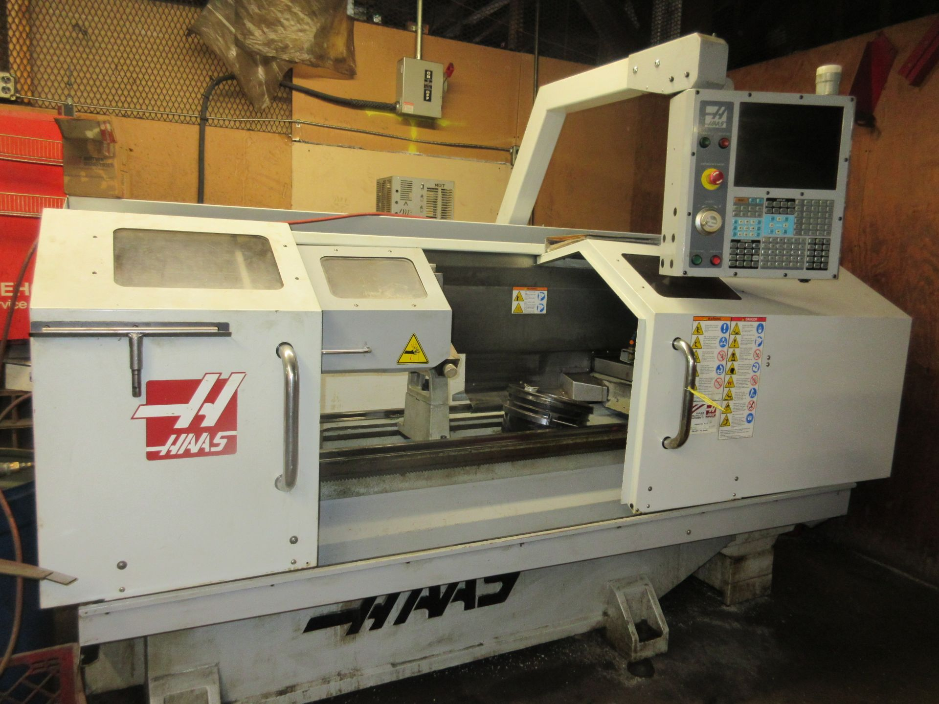 (1) 2008 Haas TL-2 CNC Lathe S/N 3081060, With (4) Position Tool Changer, 3 Jaw Chuck & Steady Rest