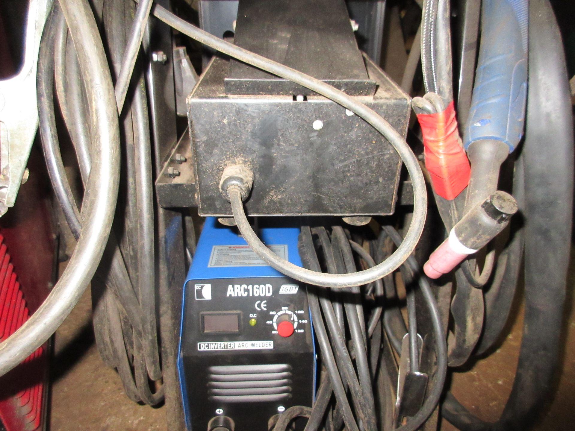 (1) IGBT Arc 160D Invertor Arc Welder w/ Chicago Electric Invertor Tig/Stick Welder, Foot Control - Image 3 of 5