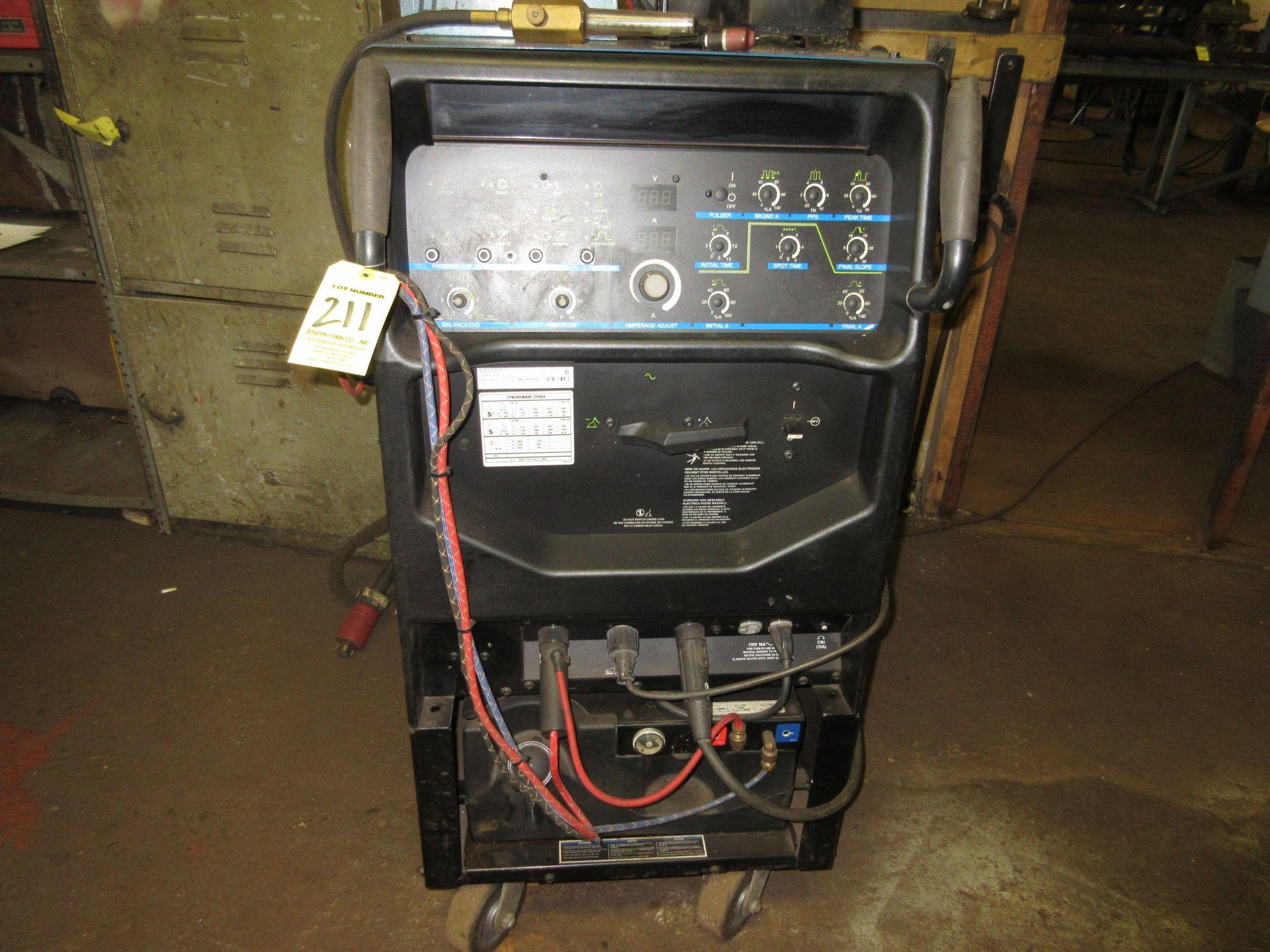 (1) Miller Syncrowave 250DX Welder s/n MG360564L, Port., Foot Control