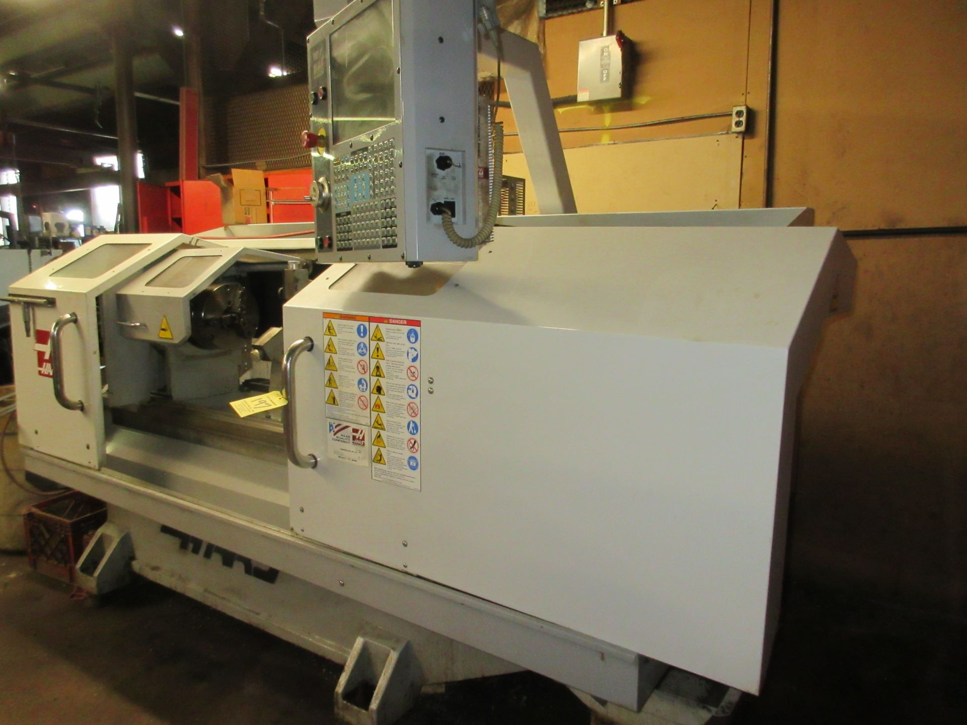(1) 2008 Haas TL-2 CNC Lathe S/N 3081060, With (4) Position Tool Changer, 3 Jaw Chuck & Steady Rest - Image 7 of 10