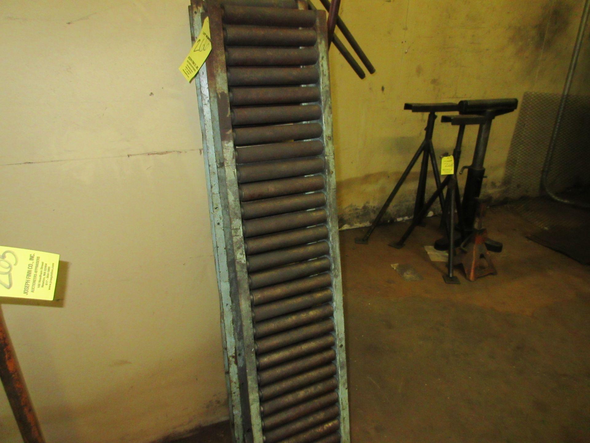 "LOT (2) 8""x4' Roller Conveyors"