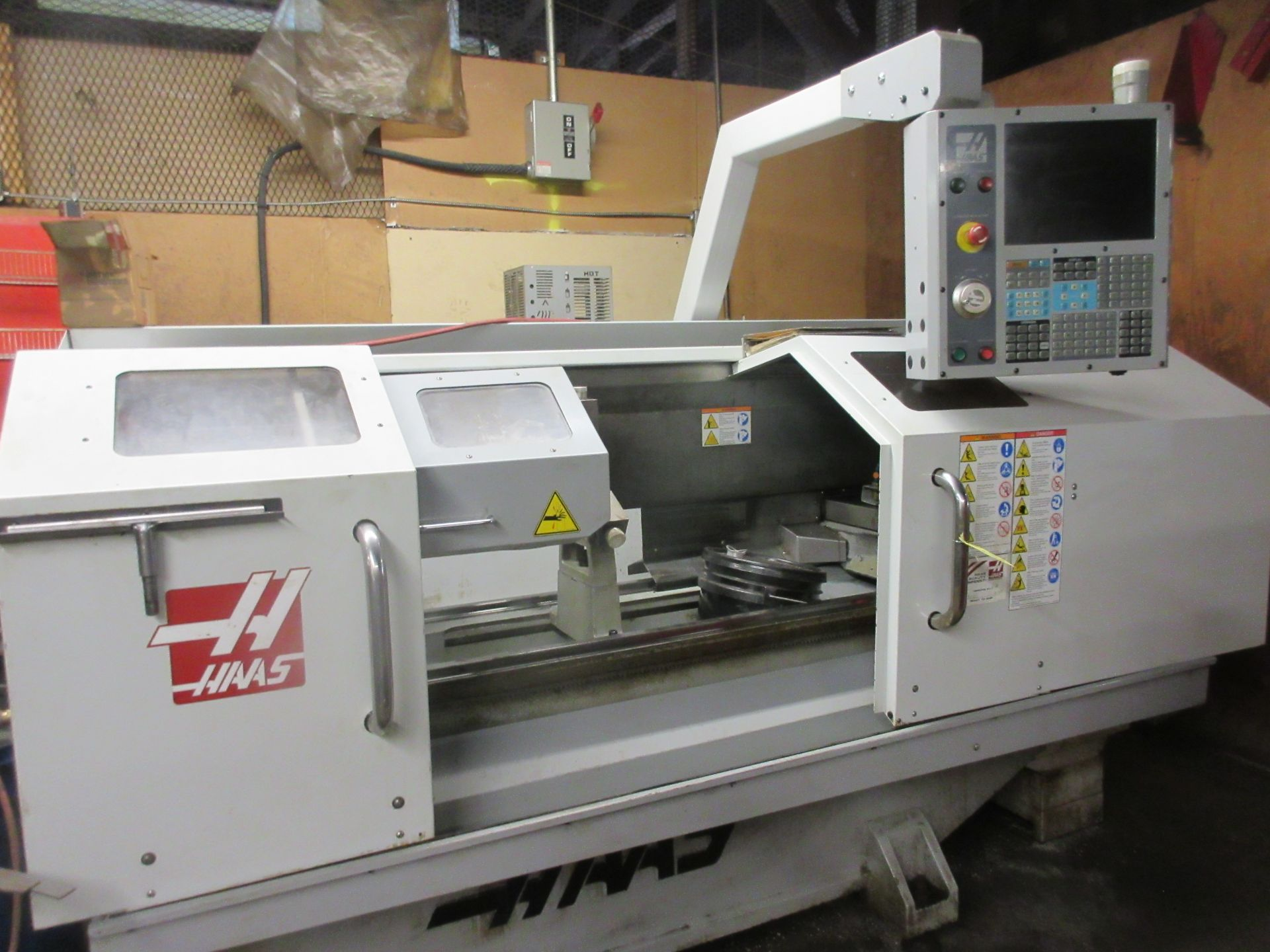 (1) 2008 Haas TL-2 CNC Lathe S/N 3081060, With (4) Position Tool Changer, 3 Jaw Chuck & Steady Rest - Image 8 of 10