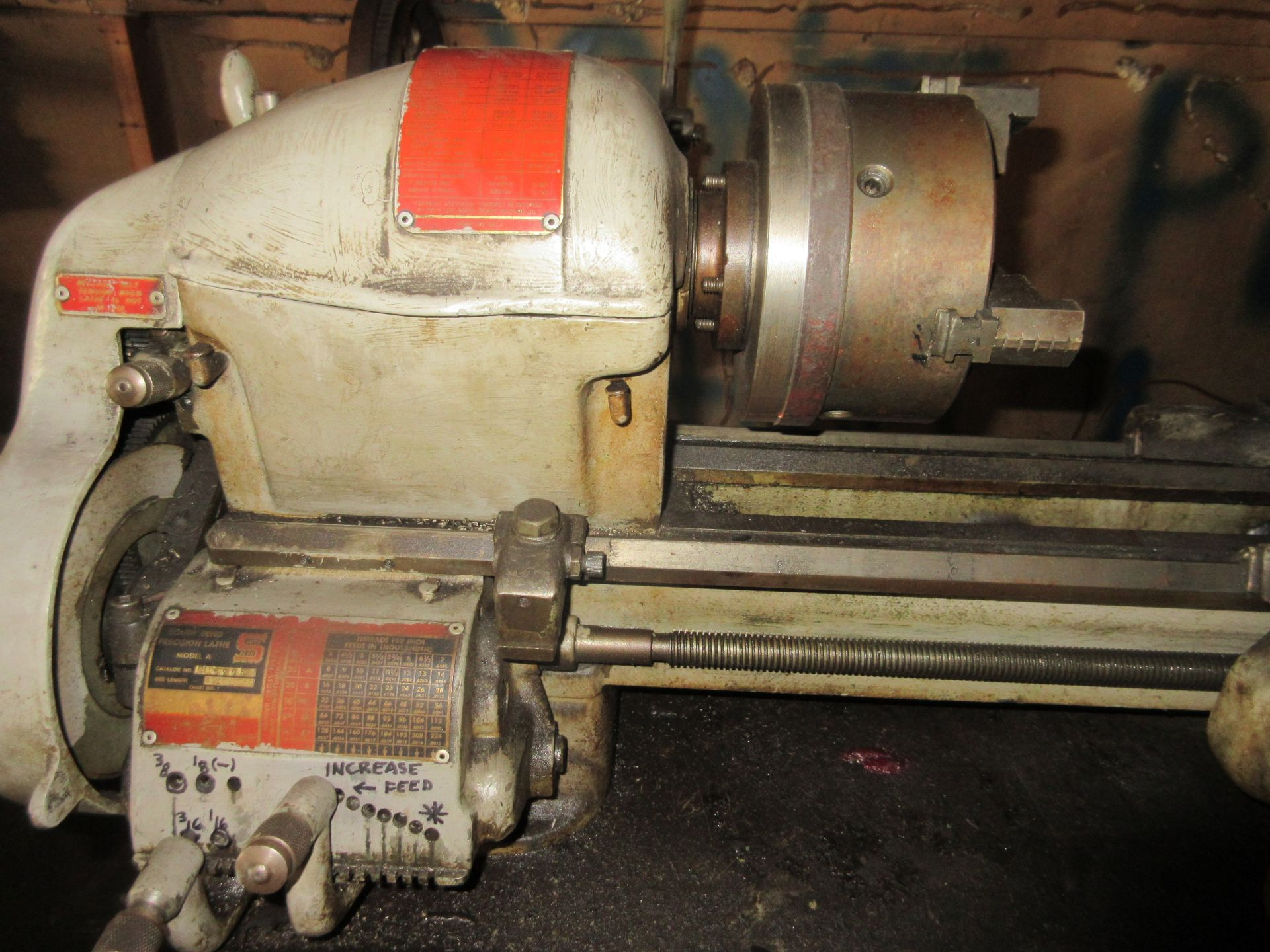 """(1) South Bend Model A Lathe, 6"""" 3 Jaw Chuck, Tailstock, S/N 30125 KAR - Image 3 of 3"""