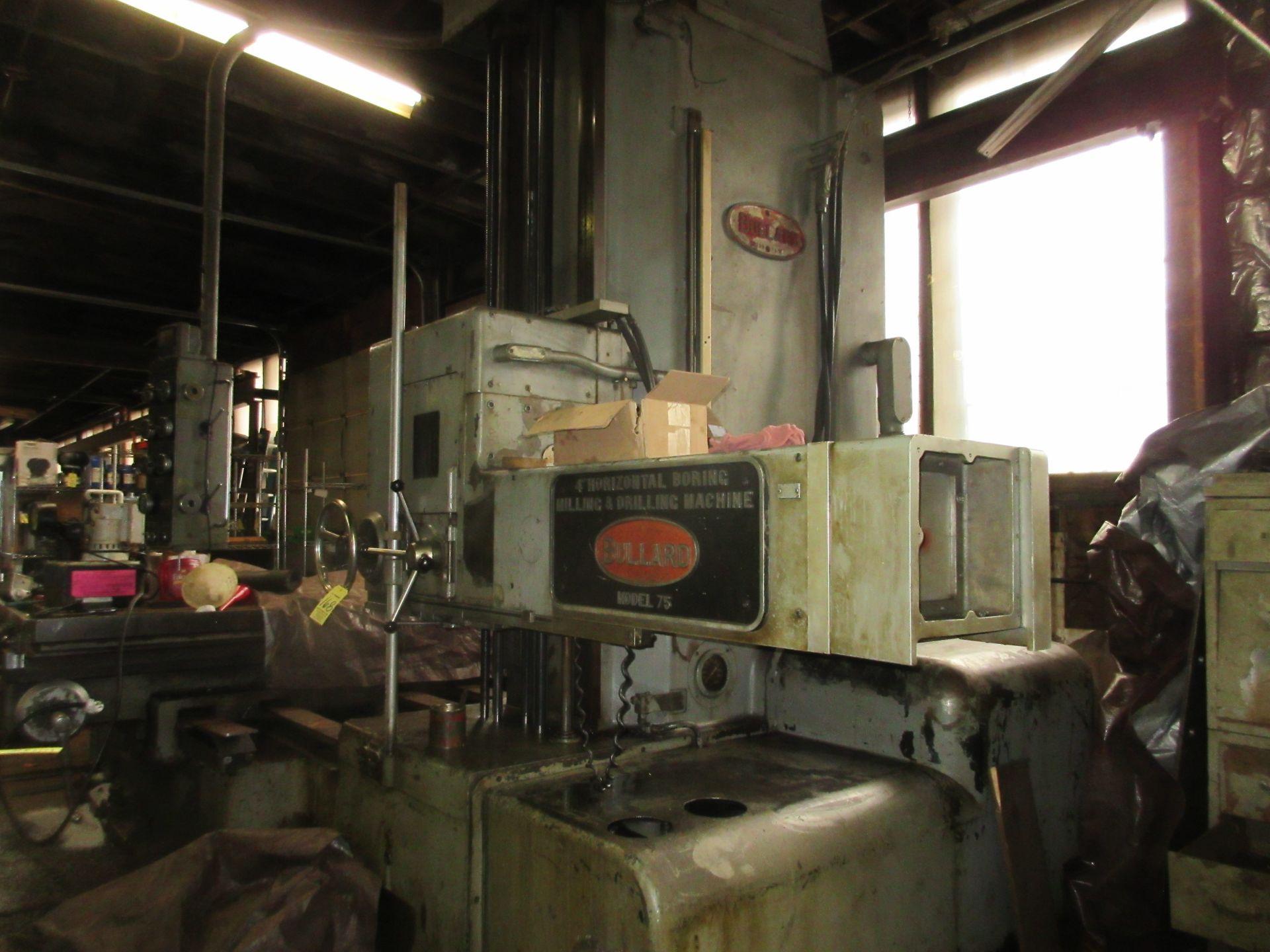 """(1) Bullard Model 75 4"""" Horizontal Boring, Milling & Drilling Machine S/N 30512 - Image 4 of 7"""