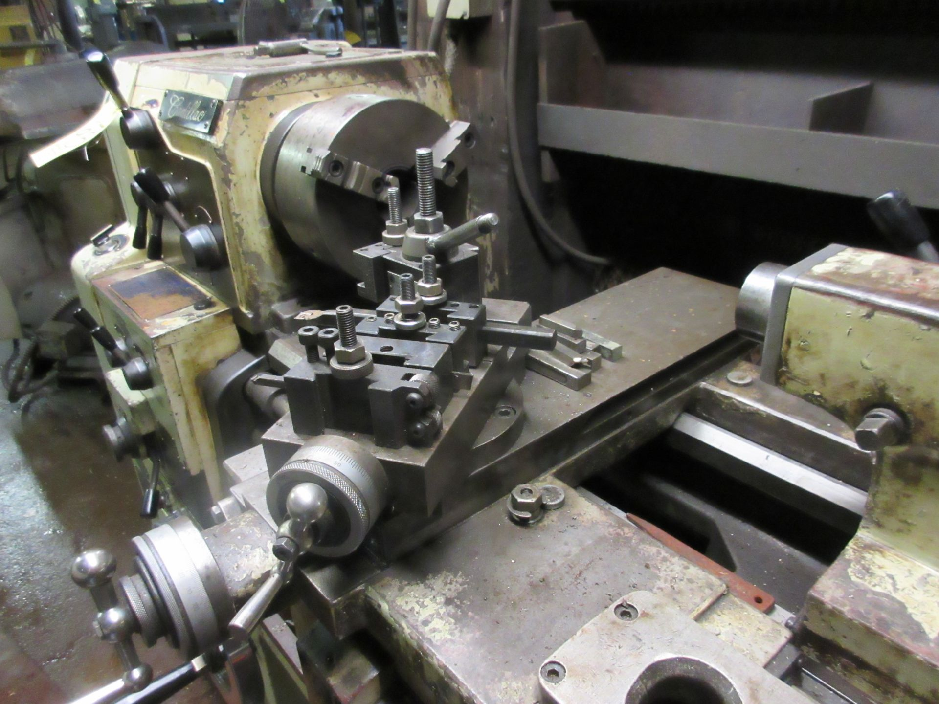 """(1) Cadillac 1040 Toolroom Lathe (1) 8"""" 3 Jaw & (1) 8"""" 4 Jaw Universal Independent Chucks & Steady - Image 4 of 5"""
