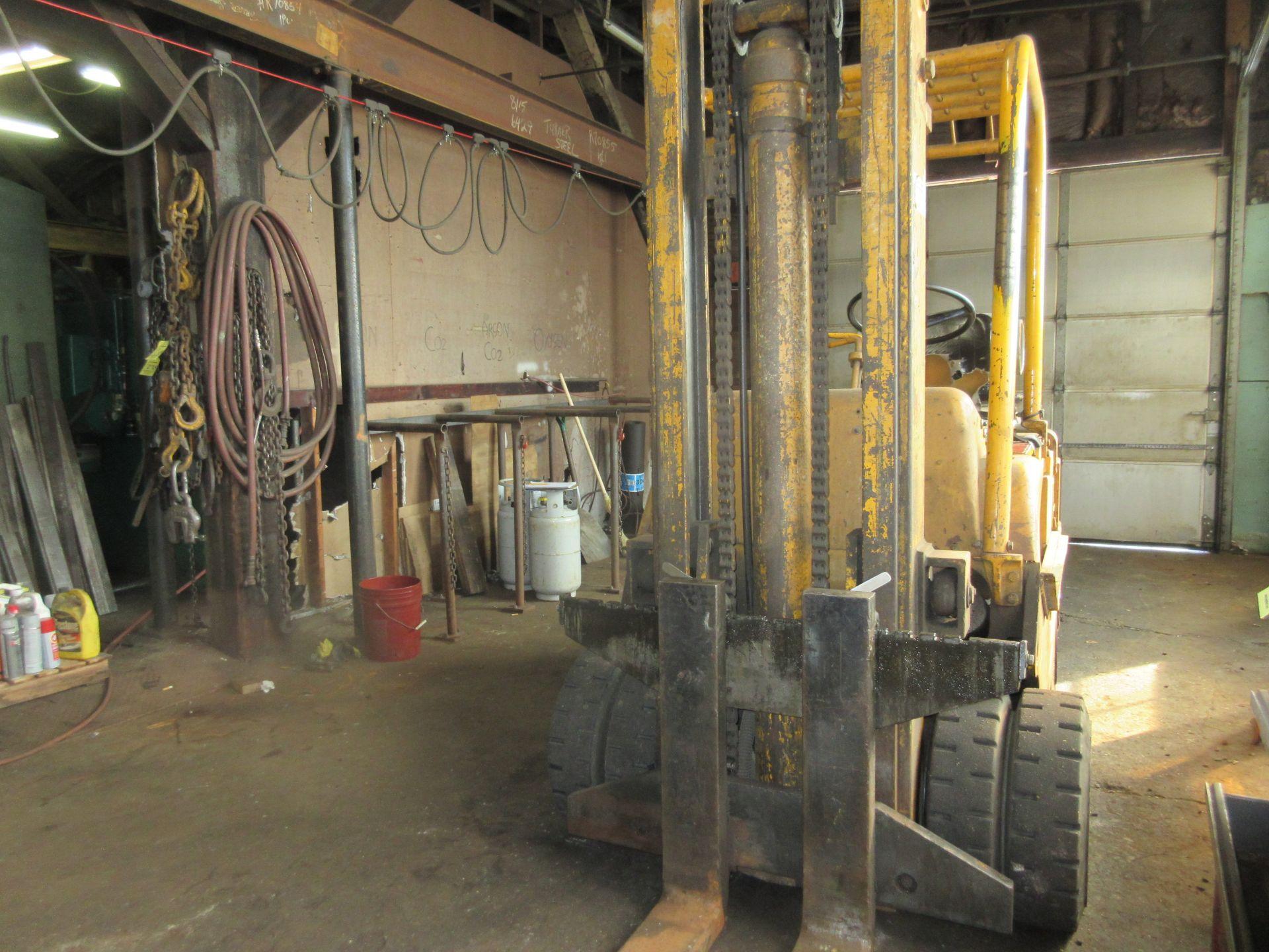 "(1) Caterpillar T120C LPG Forklift S/N 55L447, 12,000# Capacity, 156"" Lift, 3584 Hrs. - Image 2 of 6"