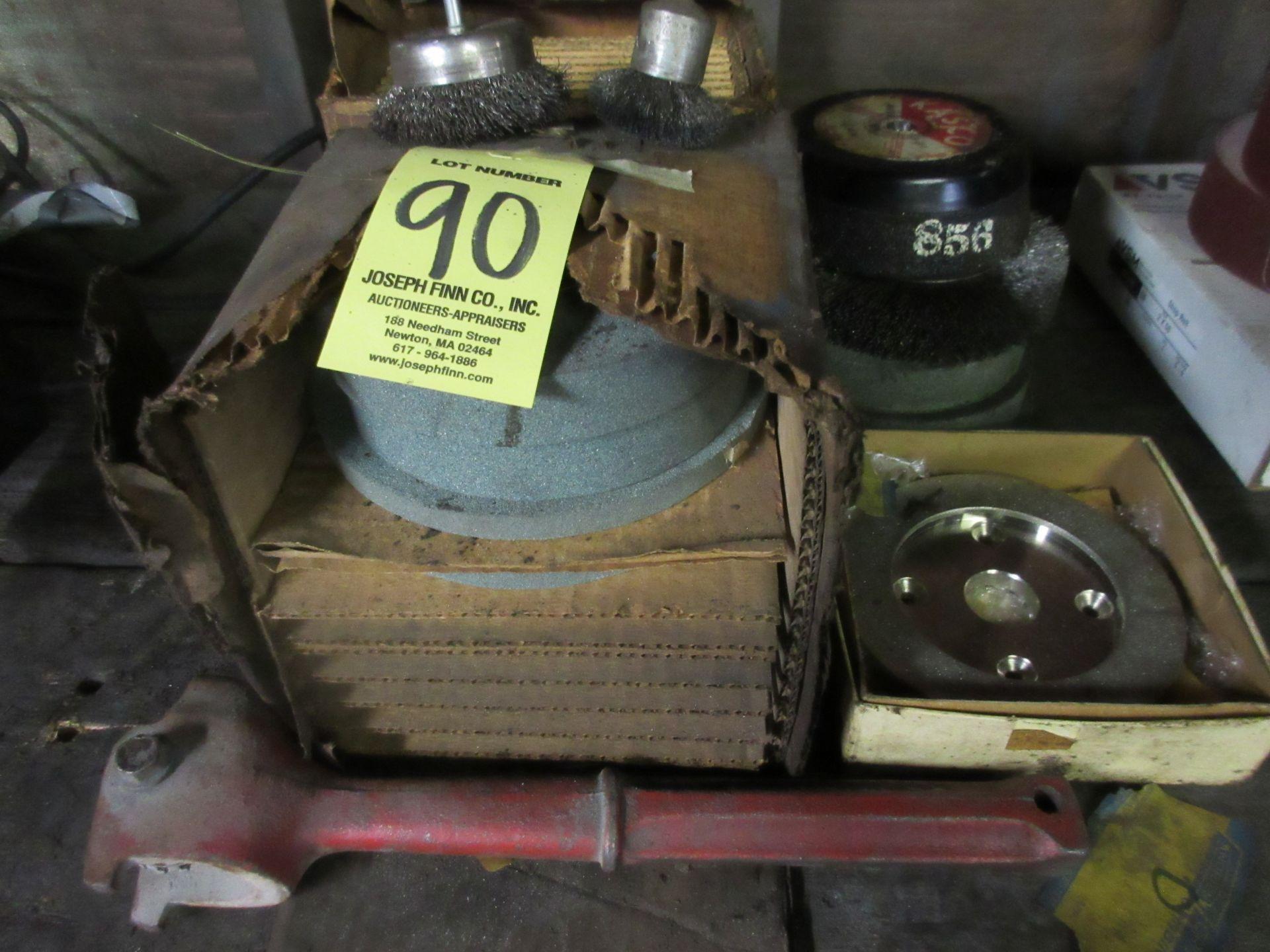 LOT Asst. Grinding Wheels on Bench