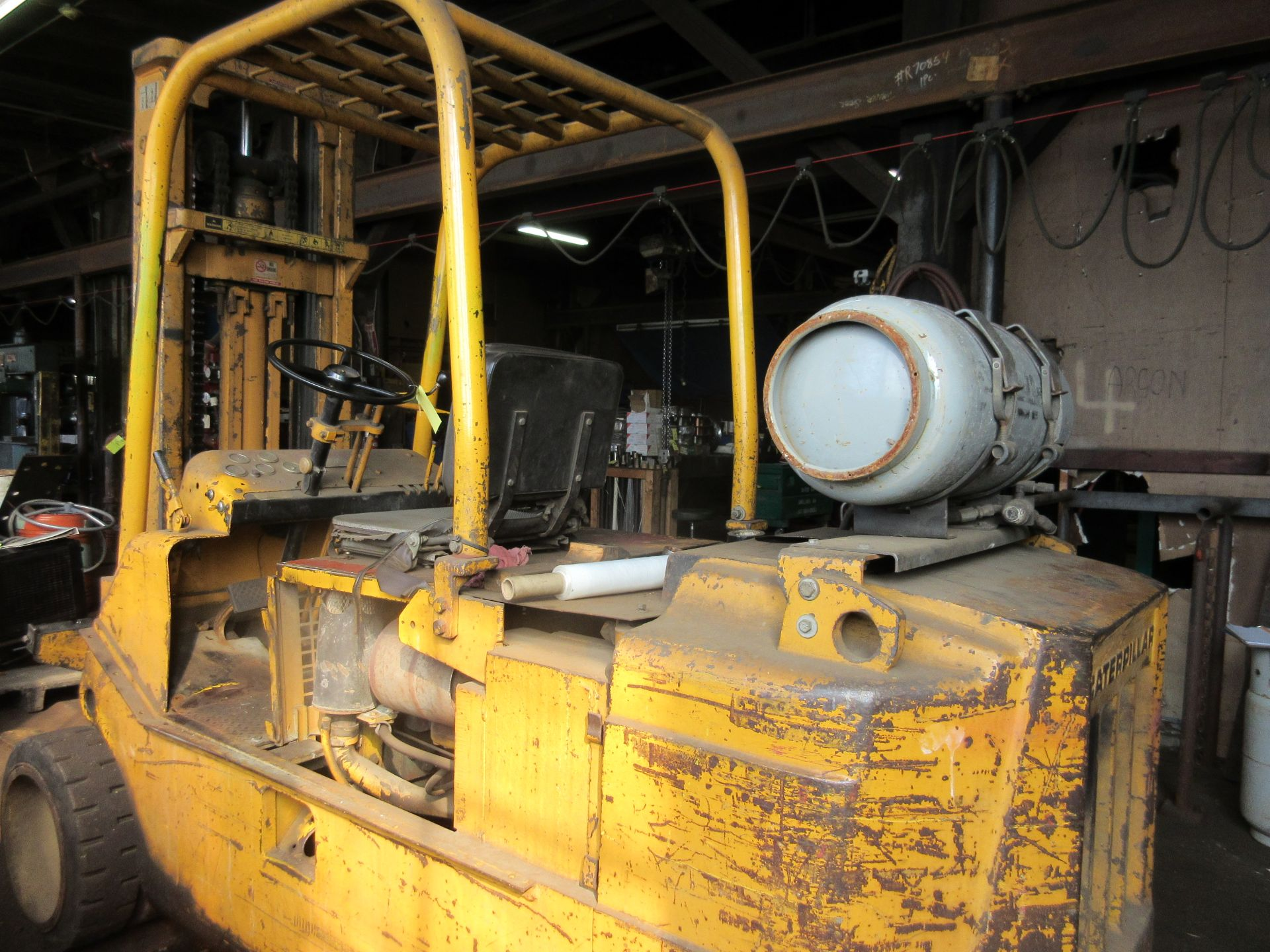 "(1) Caterpillar T120C LPG Forklift S/N 55L447, 12,000# Capacity, 156"" Lift, 3584 Hrs. - Image 4 of 6"
