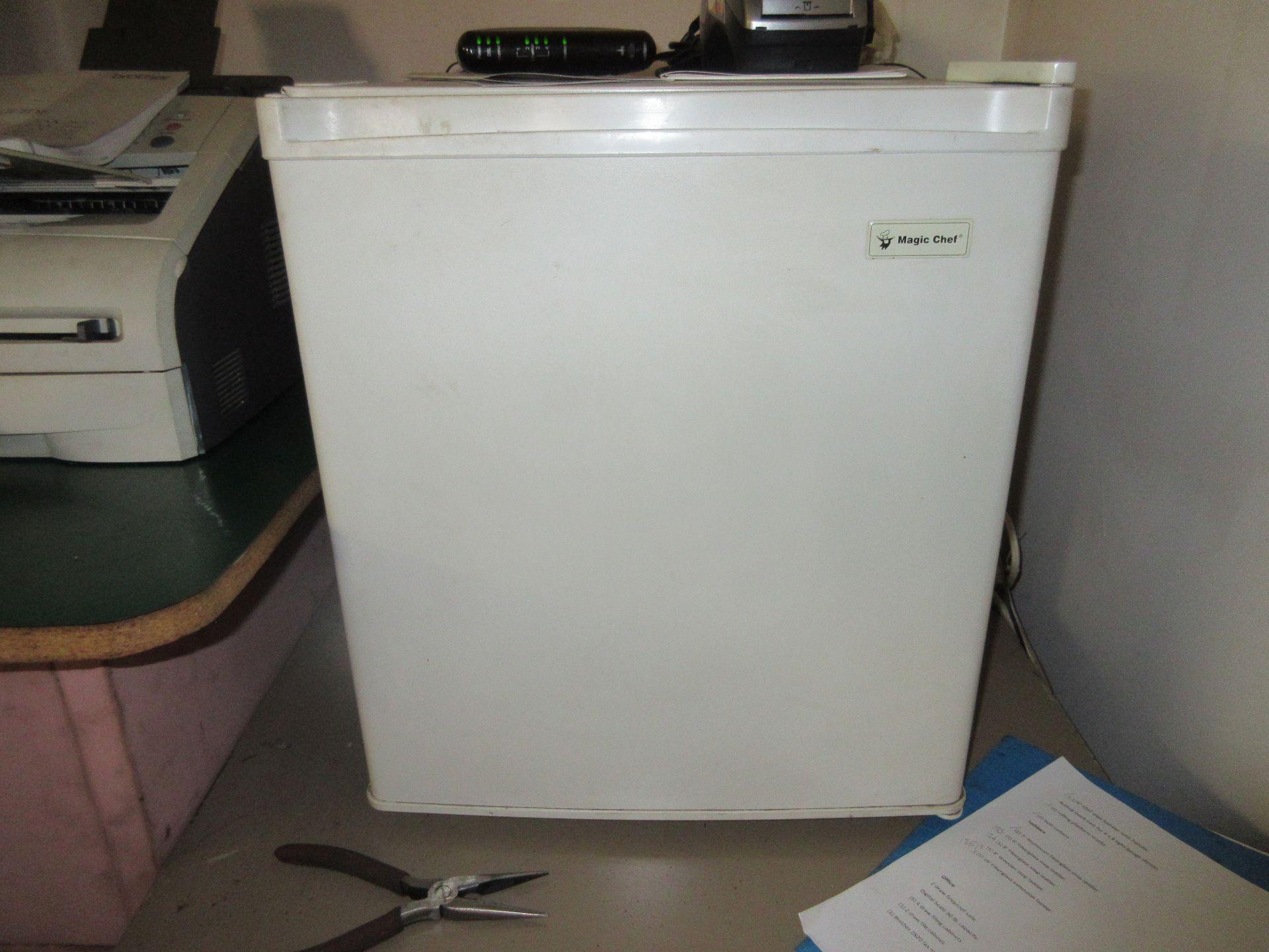 LOT Microwave, Fax Machine, Desk, Fridge in Office (No Computers)