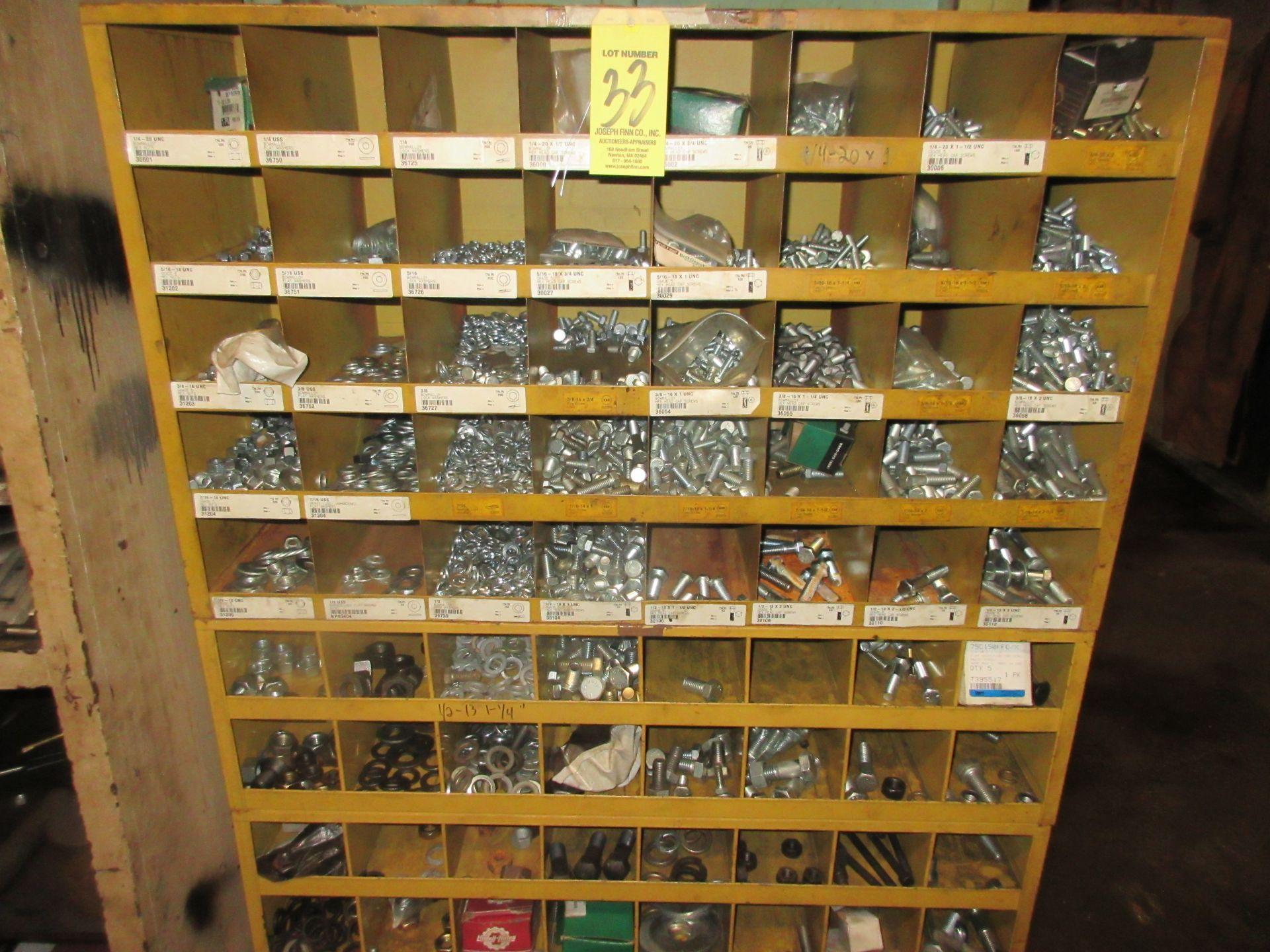 LOT (2) 40 Pocket Pigeon Hole Hardware Cabinets w/ Hardware