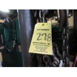 LOT Asst. Chains, Hooks, Slings on Wall