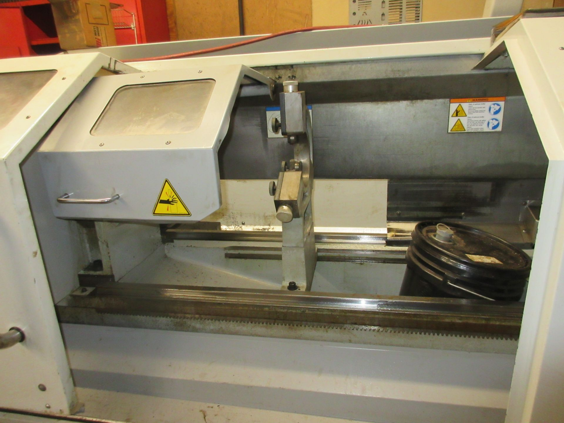 (1) 2008 Haas TL-2 CNC Lathe S/N 3081060, With (4) Position Tool Changer, 3 Jaw Chuck & Steady Rest - Image 3 of 10